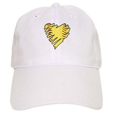 Softball Heart Baseball Cap