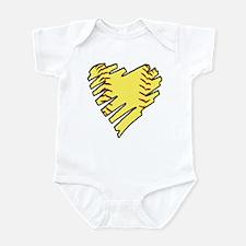 Softball Heart Infant Bodysuit