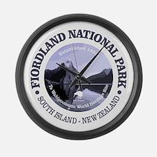 Fiordland NP Large Wall Clock