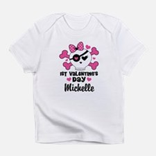 1st Valentines Day Skull Personalized T-Shirt