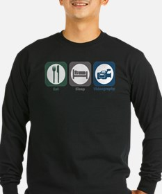Eat Sleep Videography Long Sleeve T-Shirt