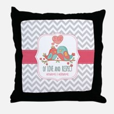 Create Personalized Anniversary Throw Pillow