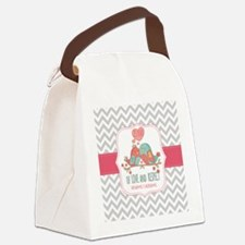 Create Personalized Anniversary Canvas Lunch Bag
