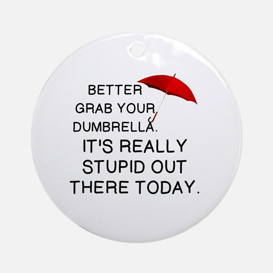 Cute Umbrella Round Ornament