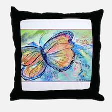 Butterfly, nature art! Throw Pillow