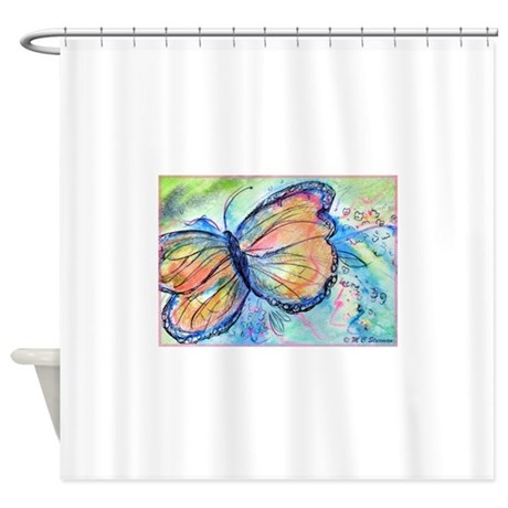 butterfly nature art shower curtain by meowries