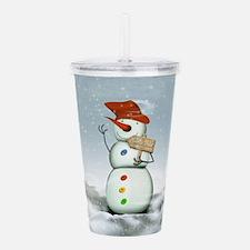 North Pole Bound Snowman Acrylic Double-wall Tumbl
