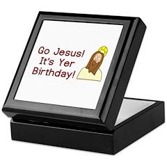 Go Jesus! It's Yer Birthday! Keepsake Box