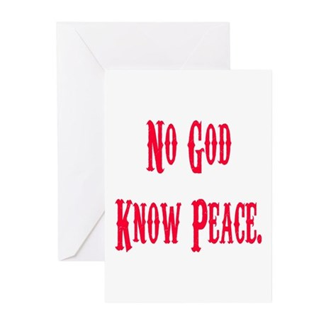 No God, Know Peace Greeting Cards (Pk of 10)