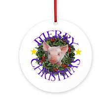 Funny Piggy Ornament (Round)