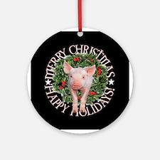PIGGY CHRISTMAS Ornament (Round)
