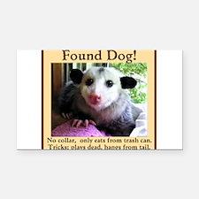 Found Dog Rectangle Car Magnet