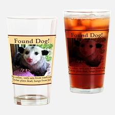 Found Dog Drinking Glass