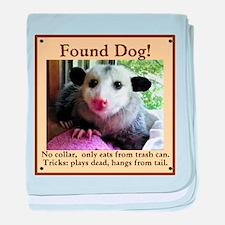 Found Dog baby blanket