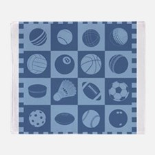 Sports Grid Throw Blanket
