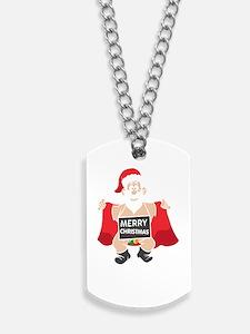 Merry Christmas Santa Dog Tags
