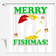 Merry Fishmas Shower Curtain