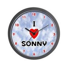 I Love Sonny (Red/Blk) Valentine Wall Clock