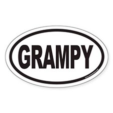 GRAMPY Euro Oval Stickers