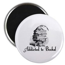 """Addicted to Books! 2.25"""" Magnet (100 pack)"""