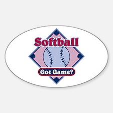Softball Got Game? Oval Decal