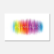 Gay Pride Pulse Car Magnet 20 x 12