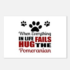 Hug The Pomeranian Postcards (Package of 8)
