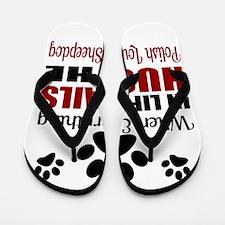Hug The Polish Lowland Sheepdog Flip Flops