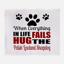 Hug The Polish Lowland Sheepdog Throw Blanket