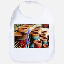 Coloured garden plant pots Baby Bib