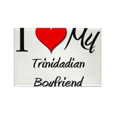 I Love My Trinidadian Boyfriend Rectangle Magnet