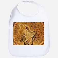 Golden harp on wonderful vintage background Baby B