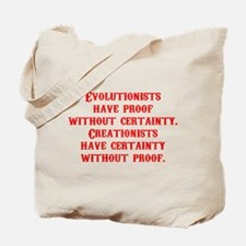 Evolutionists have proof with Tote Bag