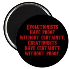 "Evolutionists have proof with 2.25"" Magnet (10 pac"