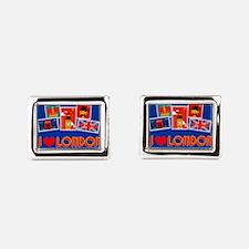 I love London, stamp collection Rectangular Cuffli