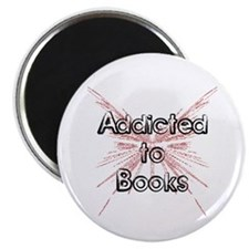 "Addicted to Books! 2 2.25"" Magnet (100 pack)"