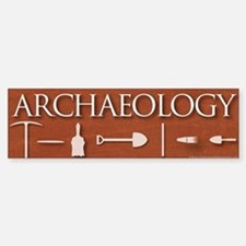 Archaeology Red Bumper Bumper Sticker
