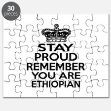 Stay Proud Remember You Are Ethiopian Puzzle