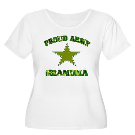 Proud army Grandma Women's Plus Size Scoop Neck T-