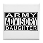 Army Daughter Advisory Tile Coaster