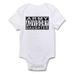 Army Daughter Advisory Infant Bodysuit