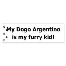 Dogo Argentino Furry Kid Bumper Bumper Sticker