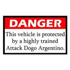 Attack Argentine Dogo Decal