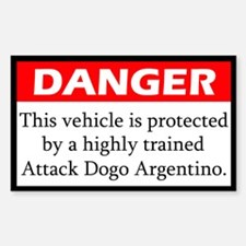 Attack Argentine Dogo Decal