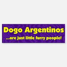 Furry People Dogo Argentino Bumper Bumper Bumper Sticker