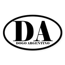 DA Abbreviation Dogo Argentino Decal