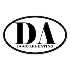 DA Abbreviation Dogo Argentino Decal