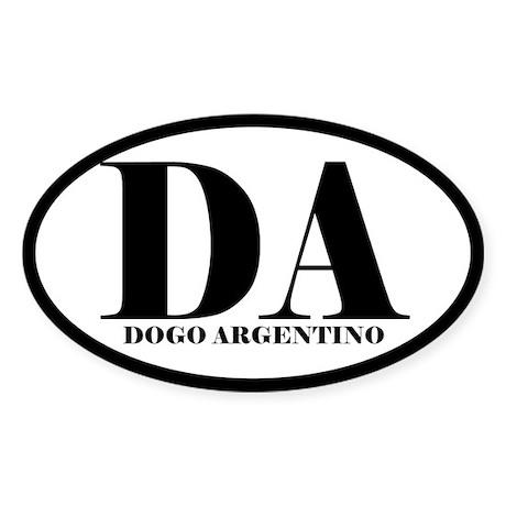 DA Abbreviation Dogo Argentino Sticker