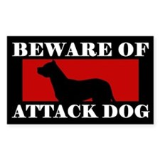 Beware of Attack Dog Dogo Argentino Decal
