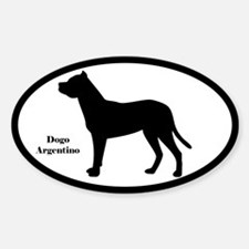 Dogo Argentino Silhouette Decal